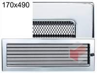 Krbová mřížka poniklovaná s žaluzií GZ 170x490
