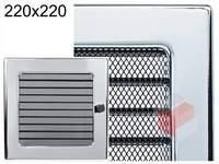 Krbová mřížka poniklovaná s žaluzií GZ 220x220