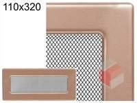 Krbová mřížka lakovaná měď 110x320