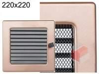Krbová mřížka lakovaná měď s žaluzií 220x220