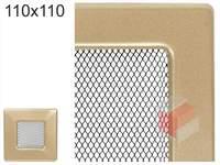 Krbová mřížka lakovaná zlatá 110x110