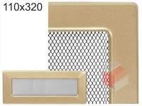 Krbová mřížka lakovaná zlatá 110x320