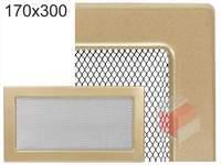 Krbová mřížka lakovaná zlatá 170x300