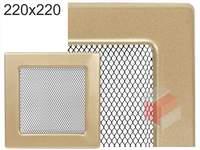 Krbová mřížka lakovaná zlatá  220x220