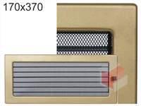 Krbová mřížka lakovaná zlatá s žaluzií 170x370