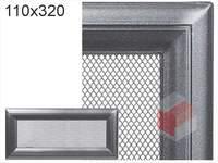 Krbová mřížka Oskar grafit 110x320