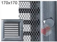 Krbová mřížka Oskar grafit s žaluzií GZ 170x170