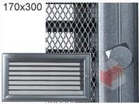 Krbová mřížka Oskar grafit s žaluzií GZ 170x300