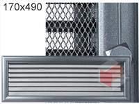 Krbová mřížka Oskar grafit s žaluzií GZ 170x490