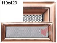 Krbová mřížka Oskar měď 110x420