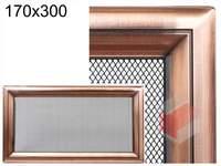 Krbová mřížka Oskar měď 170x300