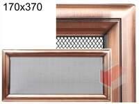 Krbová mřížka Oskar měď 170x370