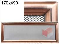 Krbová mřížka Oskar měď 170x490