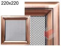 Krbová mřížka Oskar měď 220x220