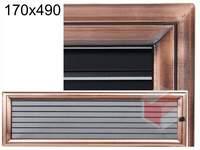 Krbová mřížka Oskar měď s žaluzií GZ 170x490