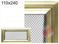 Krbová mřížka Oskar zlato 110x240
