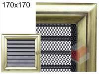 Krbová mřížka Oskar zlato s žaluzií GZ 170x170