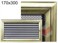 Krbová mřížka Oskar zlato s žaluzií GZ 170x300