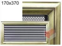 Krbová mřížka Oskar zlato s žaluzií GZ 170x370