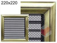 Krbová mřížka Oskar zlato s žaluzií GZ 220x220