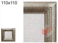 Krbová mřížka Oskar černo-zlatá 110x110