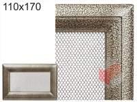 Krbová mřížka Oskar černo-zlatá 110x170