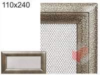 Krbová mřížka Oskar černo-zlatá 110x240