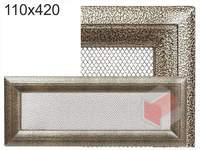 Krbová mřížka Oskar černo-zlatá 110x420