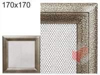 Krbová mřížka Oskar černo-zlatá 170x170