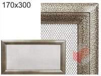 Krbová mřížka Oskar černo-zlatá 170x300