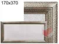 Krbová mřížka Oskar černo-zlatá 170x370