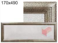 Krbová mřížka Oskar černo-zlatá 170x490