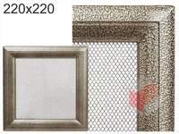 Krbová mřížka Oskar černo-zlatá 220x220