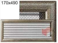 Krbová mřížka Oskar černo-zlatá s žaluzií GZ 170x490