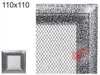 Krbová mřížka Oskar černo-stříbrná 110x110