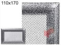 Krbová mřížka Oskar černo-stříbrná 110x170