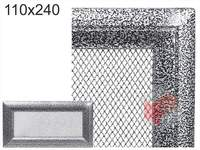 Krbová mřížka Oskar černo-stříbrná 110x240