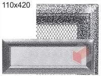 Krbová mřížka Oskar černo-stříbrná 110x420
