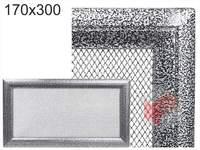 Krbová mřížka Oskar černo-stříbrná 170x300
