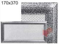 Krbová mřížka Oskar černo-stříbrná 170x370
