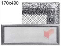 Krbová mřížka Oskar černo-stříbrná 170x490