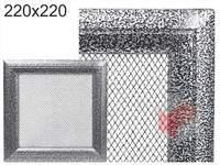 Krbová mřížka Oskar černo-stříbrná 220x220