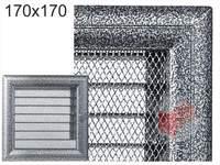 Krbová mřížka Oskar černo-stříbrná s žaluzií GZ 170x170