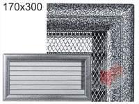 Krbová mřížka Oskar černo-stříbrná s žaluzií GZ 170x300