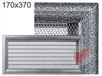 Krbová mřížka Oskar černo-stříbrná s žaluzií GZ 170x370