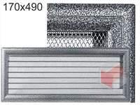Krbová mřížka Oskar černo-stříbrná s žaluzií GZ 170x490