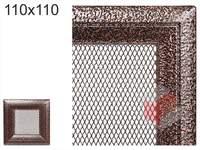 Krbová mřížka Oskar černo-měděná 110x110