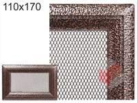 Krbová mřížka Oskar černo-měděná 110x170