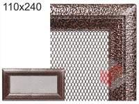 Krbová mřížka Oskar černo-měděná 110x240