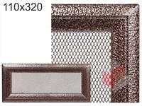 Krbová mřížka Oskar černo-měděná 110x320